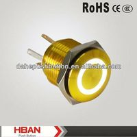 CE ROHS round push button light switch