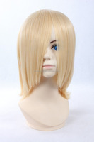 2015 Wholesale hot sale cheap high temperature fiber short milk golden cosplay wigs
