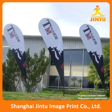 China printing polyester fabric cheap beach flag stand, festival beach flag