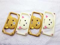 Mobile phone holder/Silicone slap phone holder/stand bear stand bumper case for samsung i9150