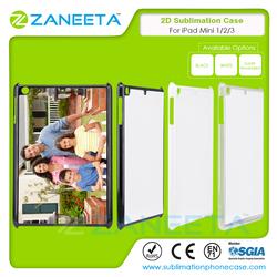 2D Sublimation hard PC Case for iPad Mini 1/2/3 Sublimation case for iPad Mini 1/2/3 with metal sheet