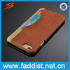 One Card slot Leather cheap mobile phone case for iphone 6 mobile accessories