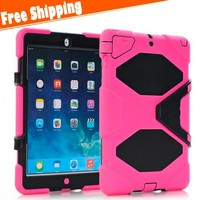 Heavy Duty Shockproof Hybrid Military Stand Hard Tablet Case Cover For iPad mini 1/2/3
