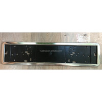 custom logo european Russian Size 130*530MM custom stainless steel license plate holder