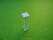 Standard Fluorescence Quartz Cuvette with Lid 10 mm 0.35ml