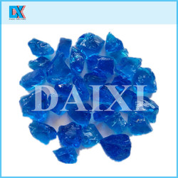 sell colored decorative large glass chips for construction use