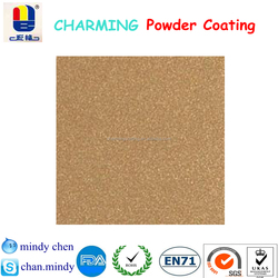 chemical stable shiny gold sand texture finish powder paint for steel