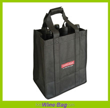 factory direct black non woven fabric wine bottle carrier bags