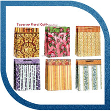 woven cotton handle gift bag floral paper shopping bags