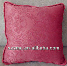 Pure color satin fabric pillow embroidered pillow edge of bone pillowcase