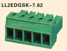 Green Plug-in Terminal Block Pitch7.62MM connector LL2EDGSK-7.62
