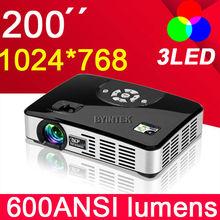 1280*800 Digital 1080P Home theater Full HD multimedia video RGB 3LED 3D DLP projectors