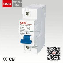 125A AC MCB YCB1-125 mcb for australia with IEC