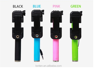 New Design Mini Wired Selfie Stick Monopod as short as a pen Foldable Handheld Monopod Mini Cable Take Pole Extendable Selfie St