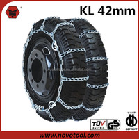 42 Series Carbon Steel V-Bar Single Truck Snow Tire Chains With Repair Links And Glove