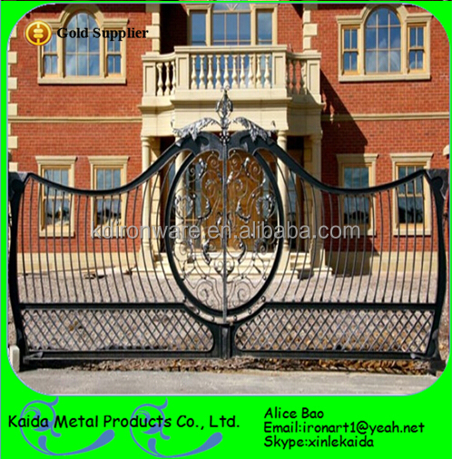 Zierschmiedeeisen tor und metall einfahrt tor design für garten ...