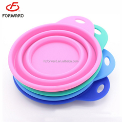 beauty silicone portable pet dog travel bowl collapsible bowl for sale