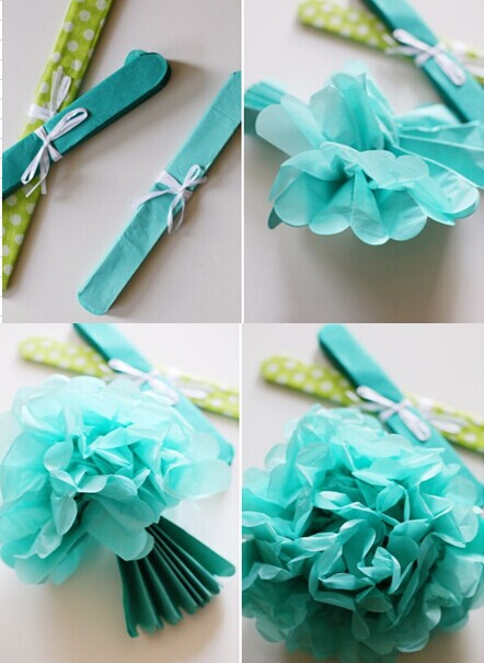 Tissue Paper Pom Poms Decoration Ideas Backdrop Baby Girl