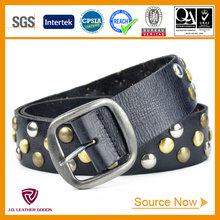 JDLA13254 Black Lady Studded Leather Belt