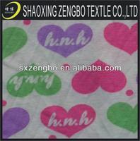 100% Cotton Heart Print Jersey Fabric Knitting Fabric