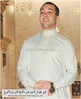 2015 Muslim Men Thobe Hot Sales New Style Robe Arabic Thobe latest model men's thobes/;atest model men's abaya
