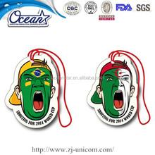 Paper freshener for car promotion items flag man