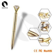 Shibell expensive ballpoint pens golden ballpoint pen with stone on the top
