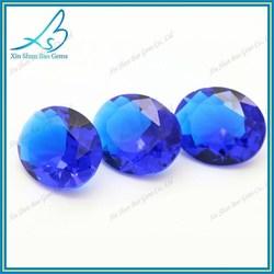 Oval sky blue loose gemstone prices,glass gemstone wholesale