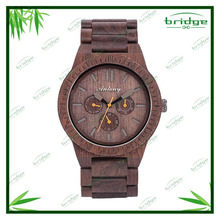 new arrival original design high-end customized brown color wrist wooden charm watch
