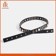 Woman Black Genuine Leather Belt 100% Cowhide