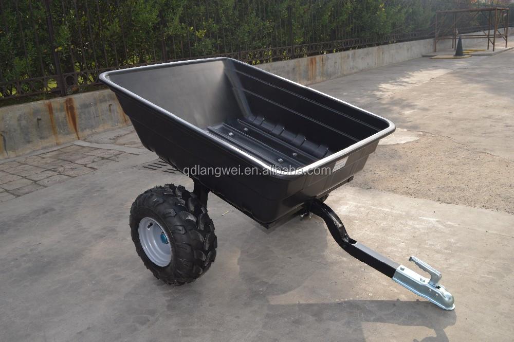 En plastique ATV basculement jardin remorque, ferme remorque pour ...