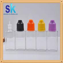 2015 fresh square vapor oil pet bottle stock pet plastic bottle new design pe bottle