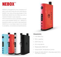 Kangertech new design temp control ecigs 60W NEBOX Starter kit all in one device Kanger Nebox kanger k box mini 50w