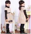 Los niños- las niñas- invierno- vestidos/las niñas adolescentes vestidos de manga corta d026