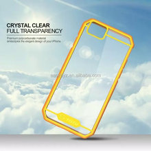 For Apple iPhone 6 Bumper Case, Fashion Hybrid Color Clear Hard Case with TPU Side Bumper Cover Case For Apple iPhone 6 4.7 5.5