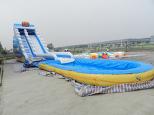 HTH commerical grade big inflatable water slide for sale