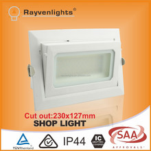 Mean Well Driver Ra>80 Rectangular Dimmable Recessed LED Shop Light