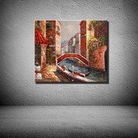 modern wall art venice oil paintings canvas for home decotation