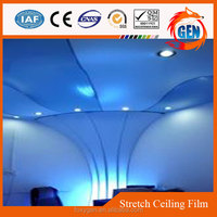 good stretch ceiling material clear heat resistant plastic film