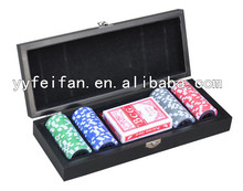 100pcs poker chip poker wooden case with custom design