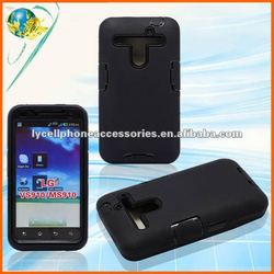 For LG Revolution 4G VS910 black rebot combo cell phone protective case