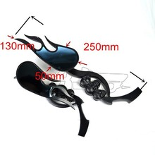 BJ-RM-045 Aftermarket aluminum multi angle adjustable rear view side mirror motorcycle