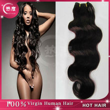 No shedding brazilian body wave human hair 8-30 inch hair weft with hair color chart