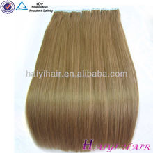 2015 High Quality Wholesale Skin Weft Pu Glue Virgin Tape Hair Extensions