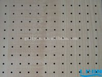 Wooden Perforated Acoustic Paneling Solid Wood Panel