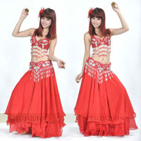 SWEGAL 2013 SGBDP13115 1COLOR red fashion sexy belly dance modern skirts