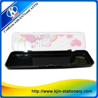 Cute Kids Transparent Pencil Case/Hot selling pvc transparent pencil case/Factory Sale transparent pencil case