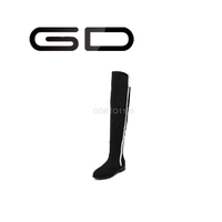 GD classics side zipper elegant warm over the knee boots for women