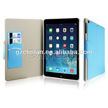 wallet slot magnetic flap leather case for ipad air cases