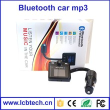 The Newest 1.5 inch Hands Free Car Kit Bluetooth FM Modulator Car MP3 for Car Steering Wheel, Support SD/MMC Card/USB Flash Disk